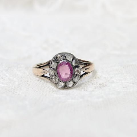 ルビーとダイヤモンドの指輪・アンティークまねきねこ
